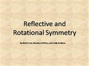 reflective and rotational symmetry in the real world