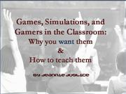 games, simulations, and gamers