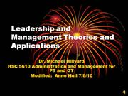 leadership and managment