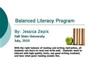 Zepik_Balanced Literacy Program
