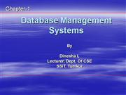 Overview-DBMS