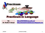 practicum in language, by dr. shadia y. banjar