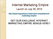 internet marketing empire bonus
