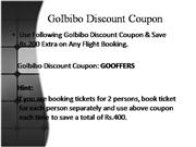 GoIbibo Discount Coupon | GoIbibo Coupons to Save Rs.200 Extra