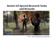 All Team Rocket GO Special Research Tasks and Rewards in Pokemon Go
