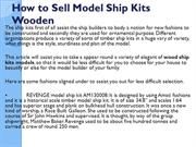 How to Sell Model Ship Kits Wooden