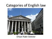 Ehsan Kabir Solicitor | Categories of English law