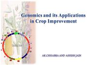 Genomics and its Applications in Crop Improvement