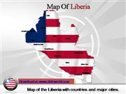 liberia map powerpoint template