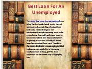 Same Day Loan- Loans For The Unemployed