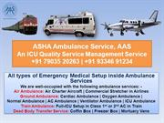 High Med Care with Full of Quality – Ambulance Service in Patna – ASHA