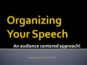 TRAINERS TRAINING-Organizing Your Speech