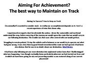 Aiming For Achievement