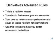 derivatives advanced rules