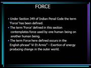 use of criminal force under indian law
