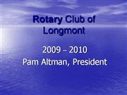Rotary Club of Longmont2010