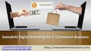 Samskriti Digital Branding for E-Commerce Business
