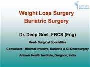 Weight loss surgery