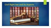 Civil Right law and its Aspects
