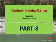 Shivpuri Teachers� Training Camp Part 8