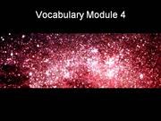 Vocabulary Module 4