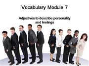 Vocabulary Module 7