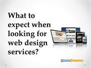 What to expect when looking for Web Design Services?