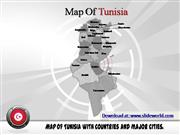 tunisia map powerpoint template