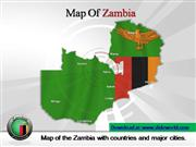 zambia powerpoint map template