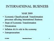International Business 18 03 2009