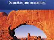 deduction and possibility