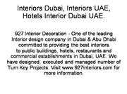 Interior Decoration Companies Dubai