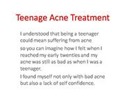 Teenage Acne Treatment
