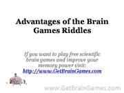 Advantages of the Brain Games Riddles