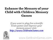 Enhance the Memory of your Child with Children Memory Games