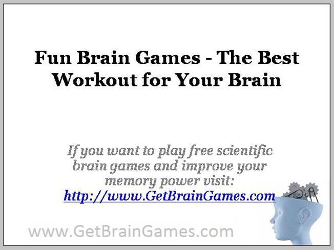 fun brain games the best workout for your brain authorstream