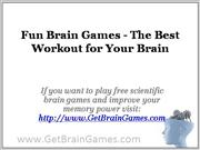Fun Brain Games - The Best Workout for Your Brain