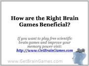 How are the Right Brain Games Beneficial