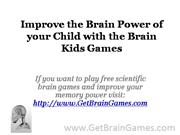 Improve the Brain Power of your Child with the Brain Kids Games
