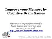 Improve your Memory by Cognitive Brain Games