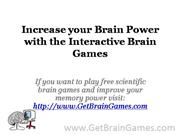Increase your Brain Power with the Interactive Brain Games