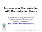 Increase your Concentration with Concentration Games