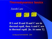 Review OF THERMODYNAMICS