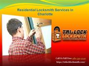 Residential Locksmith Services in Charlotte