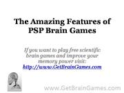 The Amazing Features of PSP Brain Games