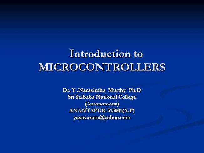 Microcontrollers Ppt Authorstream