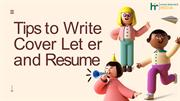 Tips to Write a Cover Letter and Resume - Human Resource India