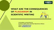 What are the consequences of plagiarism in scientific writing - Pubric