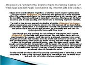 How Do I Do Fundamental Search engine marketing