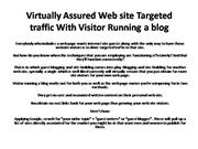 Virtually Assured Web site Targeted traffic With Visitor